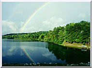 Ray Porter Rainbow stretched canvas art