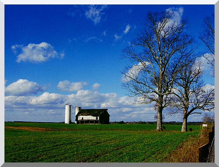 Ray Porter Uncle Bud's Barn stretched canvas art print