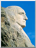 Visions of America George Washington On Mount Rushmore stretched canvas art
