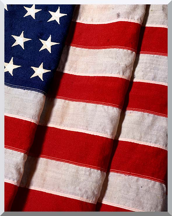 Visions of America American Flag Close-up stretched canvas art print
