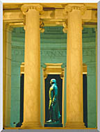 Visions of America Statue Of Thomas Jefferson Washington D C stretched canvas art