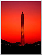 Visions of America Washington Monument At Sunset Washington D C stretched canvas art