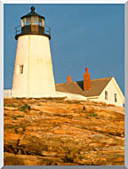 Visions of America Pemaquid Lighthouse Maine stretched canvas art