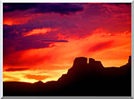 Visions of America Indian Ruins Chaco Canyon At Sunset New Mexico stretched canvas art