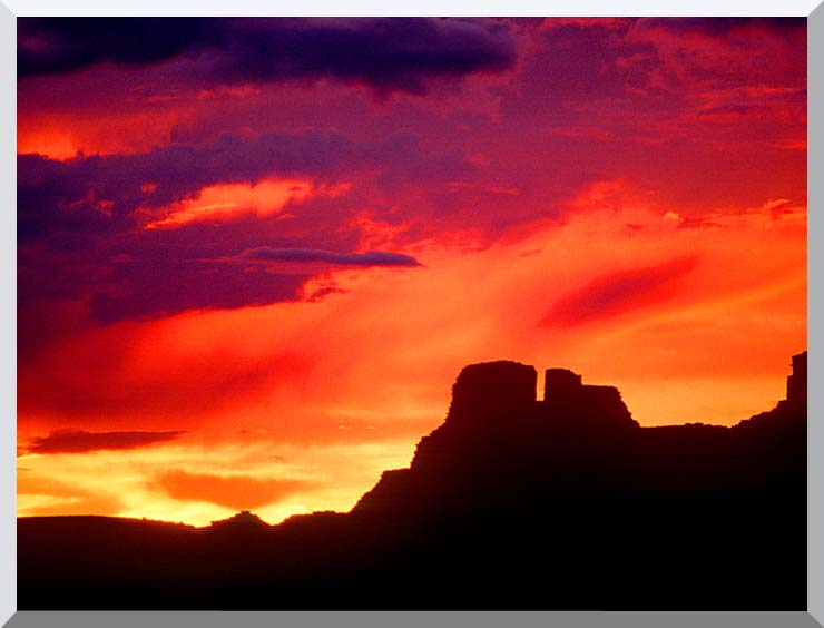 Visions of America Indian Ruins, Chaco Canyon at Sunset, New Mexico stretched canvas art print