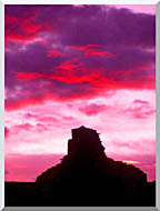 Visions of America Indian Ruins At Sunset Chaco Canyon New Mexico stretched canvas art