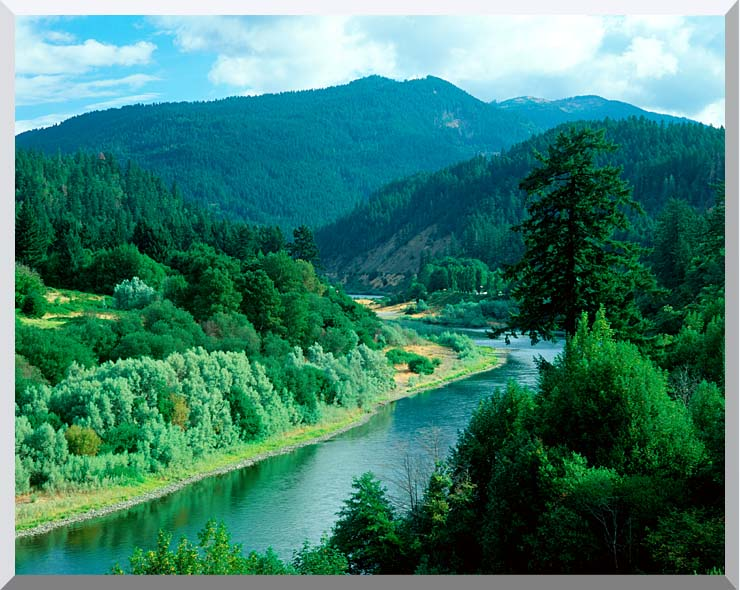 Visions of America Rogue River in Southern Oregon stretched canvas art print