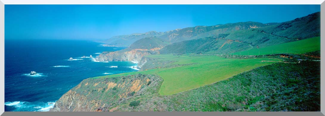 Visions of America Cabrillo Highway on the California Coast stretched canvas art print