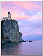 Visions of America Lighthouse Split Rock Minnesota stretched canvas art
