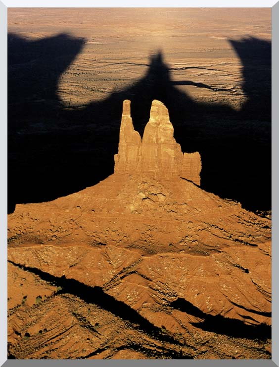 Visions of America The Navajo Tribal Park at Sunset stretched canvas art print