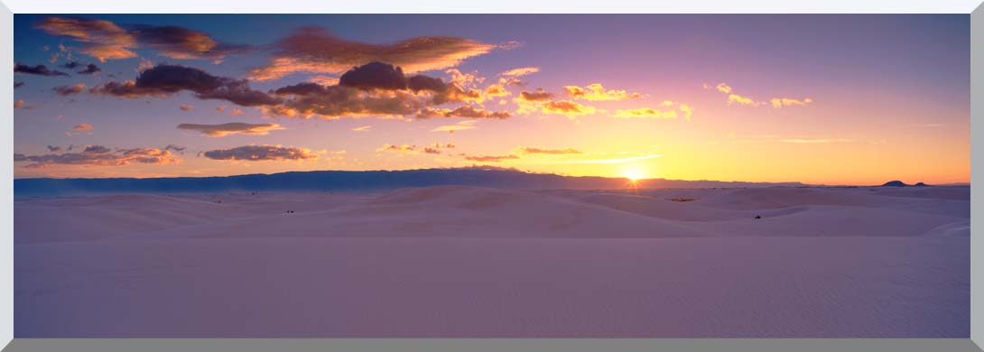 Visions of America Sunrise Over White Sands National Monument stretched canvas art print