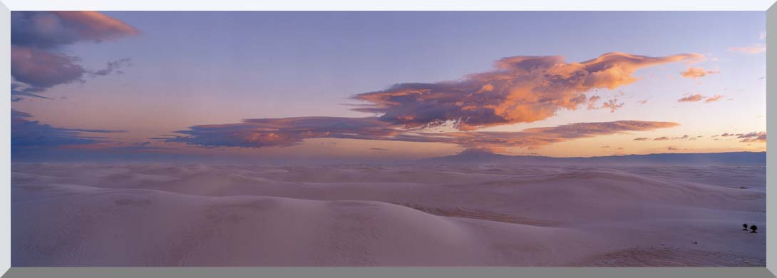 Visions of America Sunset Over White Sands National Monument stretched canvas art print