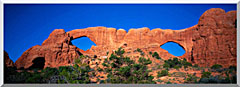 Visions of America The Windows Arches At Dawn stretched canvas art