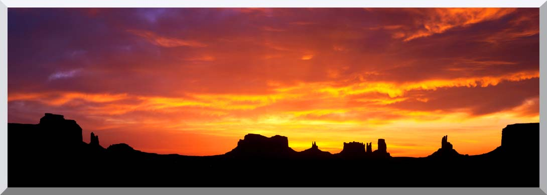 Visions of America Sunrise on Monument Valley stretched canvas art print