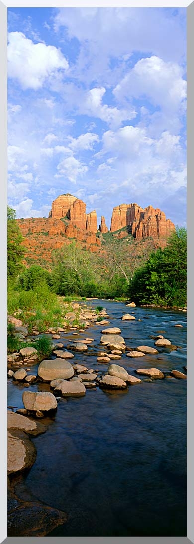 Visions of America Cathedral Rock at Red Rock Crossing stretched canvas art print