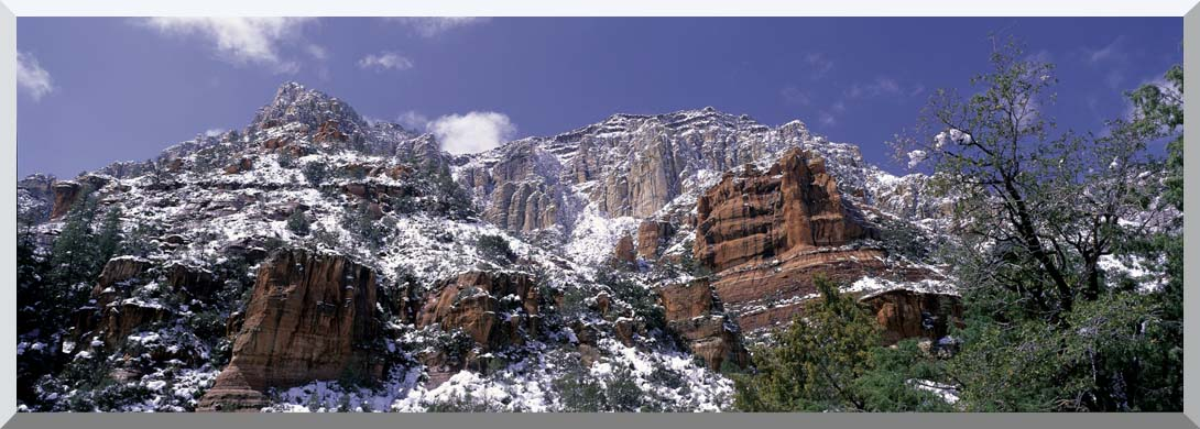 Visions of America Red Rocks of Sedona with Snow stretched canvas art print