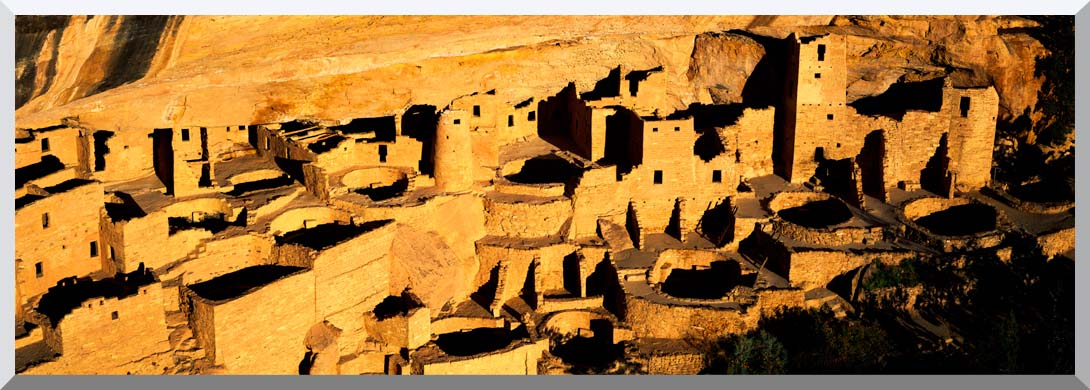 Visions of America Cliff Palace in the Anasazi Indian Ruins stretched canvas art print