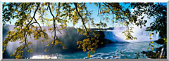 Visions of America Horseshoe Falls View From Canada stretched canvas art