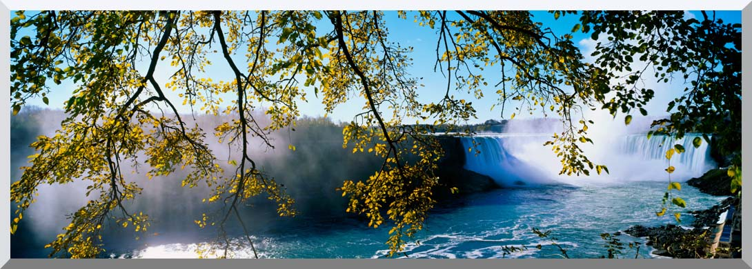 Visions of America Horseshoe Falls view from Canada stretched canvas art print