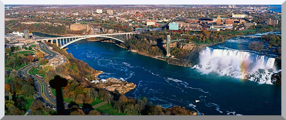 Visions of America American Falls and Rainbow Bridge stretched canvas art print
