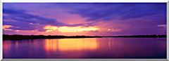 Visions of America Ocean And Pine Island At Sunset stretched canvas art