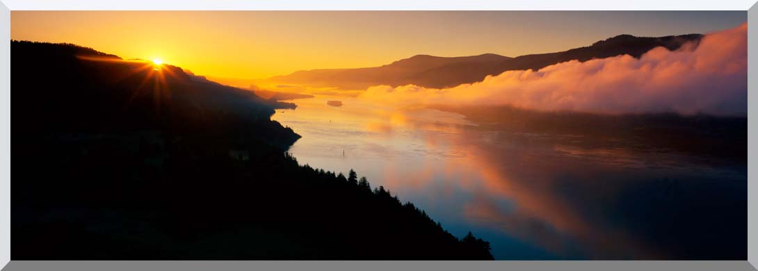 Visions of America Cape Horn on the Columbia River Gorge stretched canvas art print