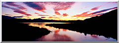 Visions of America Lake Casitas California At Sunrise stretched canvas art