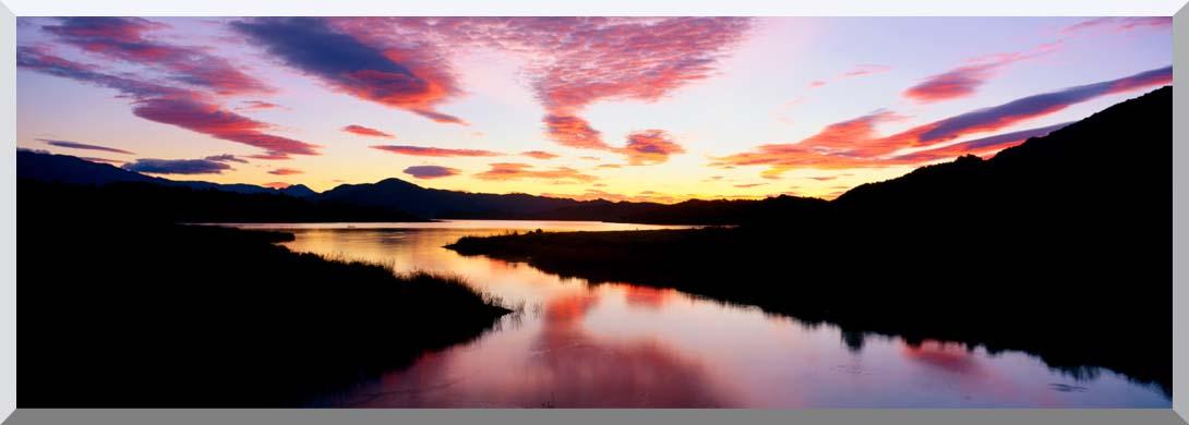 Visions of America Lake Casitas California at Sunrise stretched canvas art print