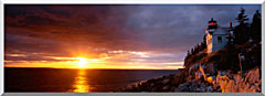 Visions of America Bass Harbor Head Lighthouse At Sunset stretched canvas art