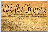 Visions of America Preamble To The U S Constitution   We The People stretched canvas art