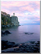 Visions of America Split Rock Lighthouse On Lake Superior stretched canvas art