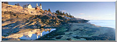 Visions of America Sunrise At Pemaquid Point Lighthouse Maine stretched canvas art