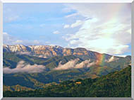 Visions of America Rainbow Over Topa Topa Mountains In Ojai California stretched canvas art