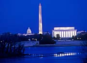 Visions of America Lincoln and Washington Monuments and U S Capitol