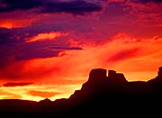 Visions of America Indian Ruins, Chaco Canyon at Sunset, New Mexico