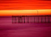Visions of America Morro Bay Pier at Sunset, California