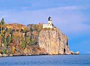 Visions of America Lighthouse in Autumn, Split Rock, Minnesota