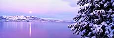 Visions of America Full Moon Rising over Lake Tahoe