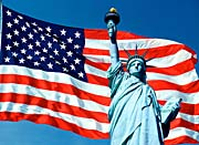 Visions of America American Flag and the Statue of Liberty