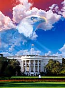 Visions of America The White House with American Eagle