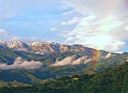 Visions of America Rainbow over Topa Topa Mountains in Ojai, California
