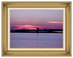 Brandie Newmon Provincetown Lighthouse At Dusk Massachusetts canvas with gallery gold wood frame