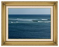 Brandie Newmon Ocean Waves In Ogunquit Maine canvas with gallery gold wood frame