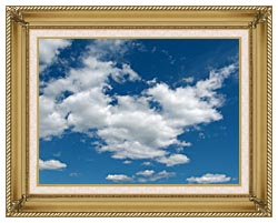 Brandie Newmon Cloudy Summer Day canvas with gallery gold wood frame