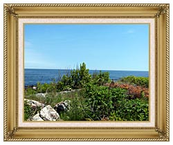 Brandie Newmon Marginal Way Overlook canvas with gallery gold wood frame