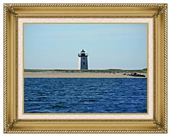 Brandie Newmon Wood End Lighthouse Provincetown Massachusetts canvas with gallery gold wood frame