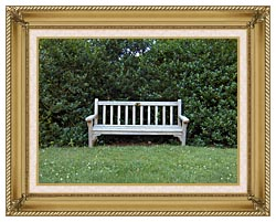 Brandie Newmon Scenic Park Bench canvas with gallery gold wood frame