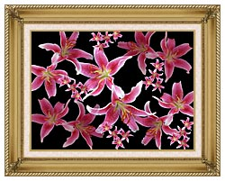 Brandie Newmon Lily canvas with gallery gold wood frame