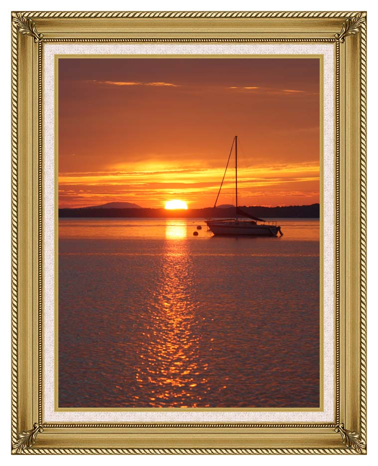 Kim O'Leary Photography Sunrise with Gallery Gold Frame w/Liner