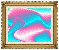 Lora Ashley Miami Surf canvas with gallery gold wood frame